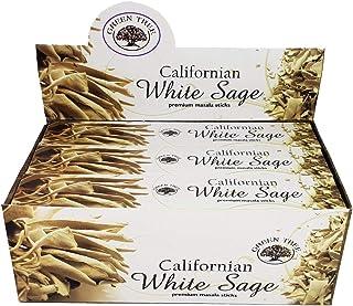 California White Sage Incense Sticks 15gms - 12 Packs