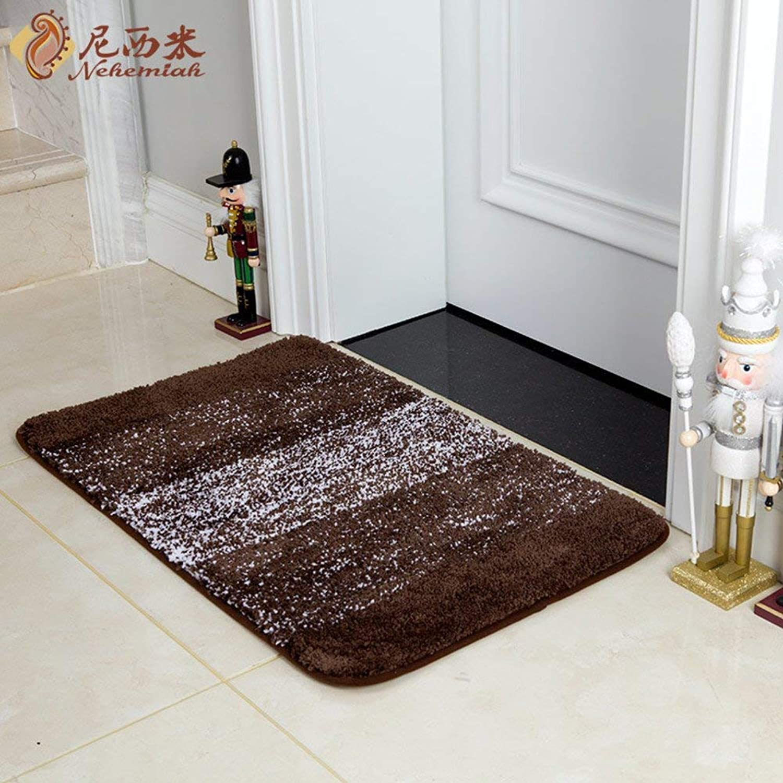 BDT Household Carpet Bathroom Mat, Striped Gradient Bedroom Study Entrance Mat, Bathroom Absorbent Mat