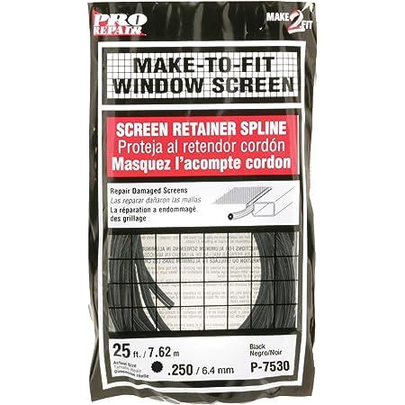 Prime-Line Products P 7530 Screen Retainer Spline, .250-in, 25-ft, Black