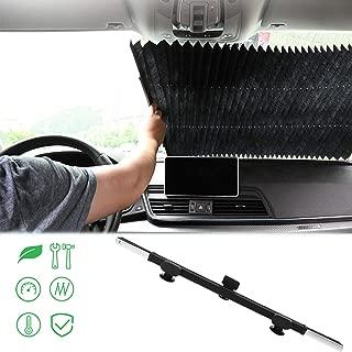 Kwak's Parasol automática Plegable para el Parabrisas del Coche bloquea los Rayos UV Protector de Copa de succión del Parabrisas de refrigeración Protección Solar Auto Telescópica(80cm)