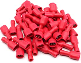 6,3 voll isoliert für Kfz 100 Flachsteckhülsen rot ++