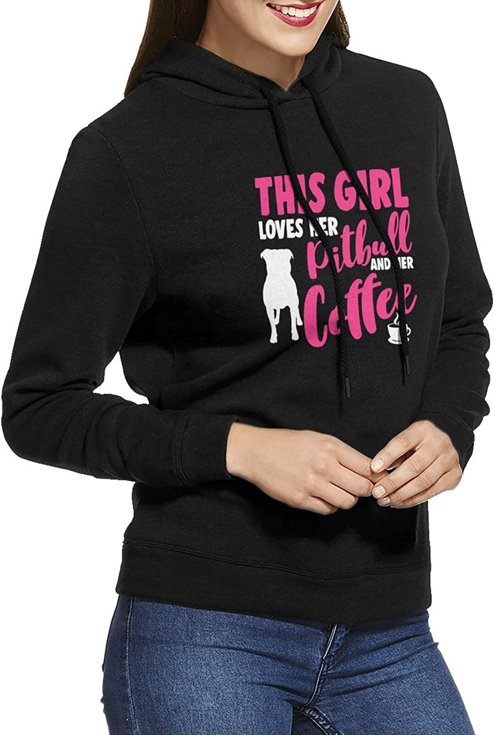 This Girl Loves Her Spring new work one after another Pitbull Long Challenge the lowest price of Japan Sleeve Pullover Hoodie Women's