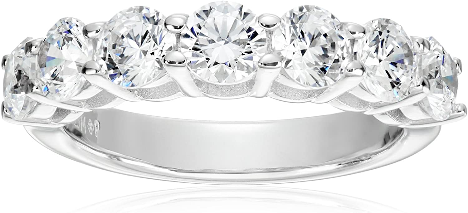 Platinum Cheap mail order sales or Gold Plated Sterling Silver Ring free 7-Stone S made with
