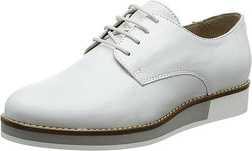 Bianco Lace Up zapatos, zapatos de Cordones Derby para mujer