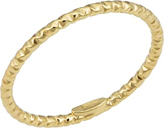 KoolJewelry 14k Yellow White or Rose Gold Minimalist Diamond-cut Band Knuckle Stacking Midi Ring (1.5 mm)