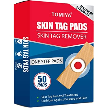 Skin Tag Removal Pads, Top-Grade Skin Tag Remover Pads, Skin Tag Remover Patches, New and Improved Formulation (50 Pads + Free Knife)