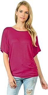 Upparel Women's Dolman Drape Jersey Tee Top -Made in USA