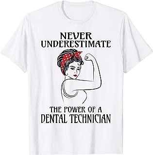 Never Underestimate Dental Technician T-Shirt