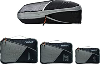Packing Cubes de Compresión, Organizadores de Equipaje, 3 Set Organizador para Maletas, Bolsas para Ropa Zapato Sucia de V...