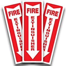 Fire Extinguisher Signs Stickers – 3 Pack 4x12 Inch – Premium Self-Adhesive Vinyl Decal, Laminated for Ultimate UV, Weathe...