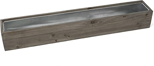 CYS Excel Rustic Planter Box, 15 Sizes Available, Wood Planter, Decorative Box, Succulent and Floral Arrangements, Indoor Use Wood Box with Removable Liner, Wedding DÉCOR H:6