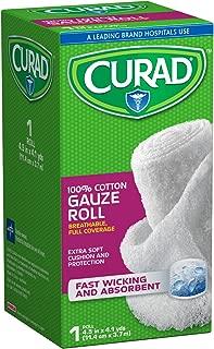 Curad CUR25865ERB Rolled Gauze Bandage, 4.5