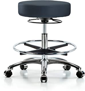 and Dentists with Wheels and Foot Ring Adobe Adjustable Stool for Exam Rooms Bench Height Labs