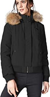 Women's Down Coat Puffer Jacket with Removable Fur Hooded