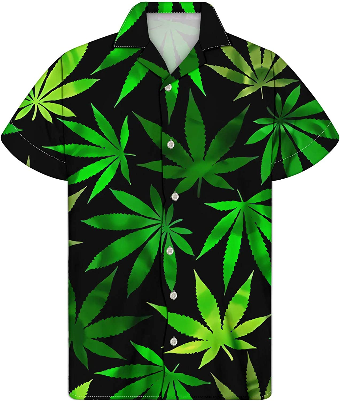 Salabomia Unisex Casual Button Down Hawaiian Shirt Floral Tropical Aloha Shirts Summer Beach Wear