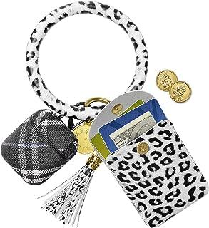 Keychain Bracelets,SHANSHUI Women Wristlet Bangle Circle Key Ring
