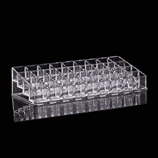 Acrylic Lip Gloss Makeup Organizer Beauty 36 Spaces - Clear