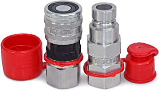 """TL23 1/2"""" NPT Thread Flat Face Quick Connect Hydraulic Couplers Coupling 1/2"""" Body Size for Bobcat Skid Steer Loaders with..."""