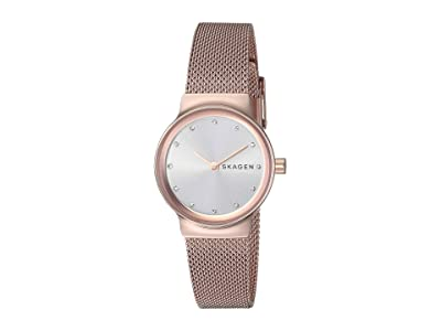 Skagen Freja Two-Hand Stainless Steel Mesh Watch (SKW2665 Rose Gold Stainless Steel Mesh) Watches