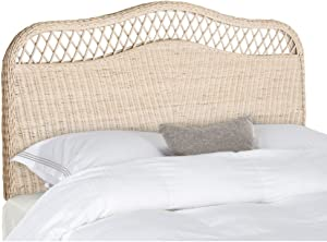 Safavieh Home Collection Sephina White Washed Rattan Headboard (King)
