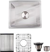 HFS (R) 13X15X8IN Undermount 16 Gauge Tight Radius Stainless Steel Kitchen Sink Single Bowl