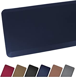 Anti Fatigue Comfort Floor Mat By Sky Mats -Commercial Grade Quality Perfect for Standup Desks, Kitchens, and Garages - Relieves Foot, Knee, and Back Pain (24x70x3/4-Inch, Dark Blue)