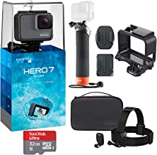 GoPro Hero 7 (Silver) Action Camera with GoPro Adventure Kit Essential Bundle