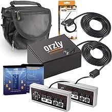 Orzly® Paquete de Accesorios para la Nintendo NES Classic (NES Mini) – Bundle Pack Que Incluye 2 GamePads, 2 Cables Extensibles para Mandos y 1 Bolsa de Viaje (Consola No Incluida)