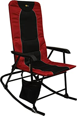 Faulkner 49596 Dakota Rocking Chair, Burgundy/Black