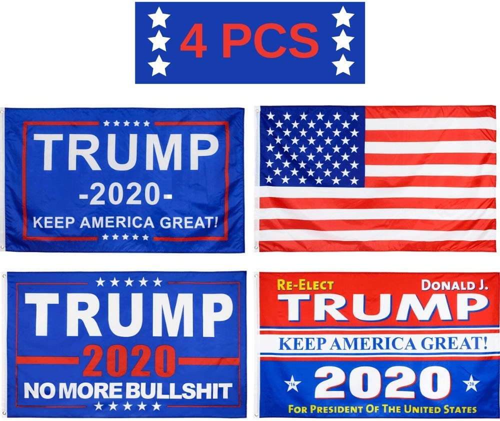 Donald 100% quality warranty! Trump 2020 Max 68% OFF Flags American Flag Re-Elect