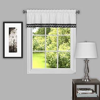 "Achim Home Furnishings, Black Camden Window Curtain Valance, 58"" x 14"""