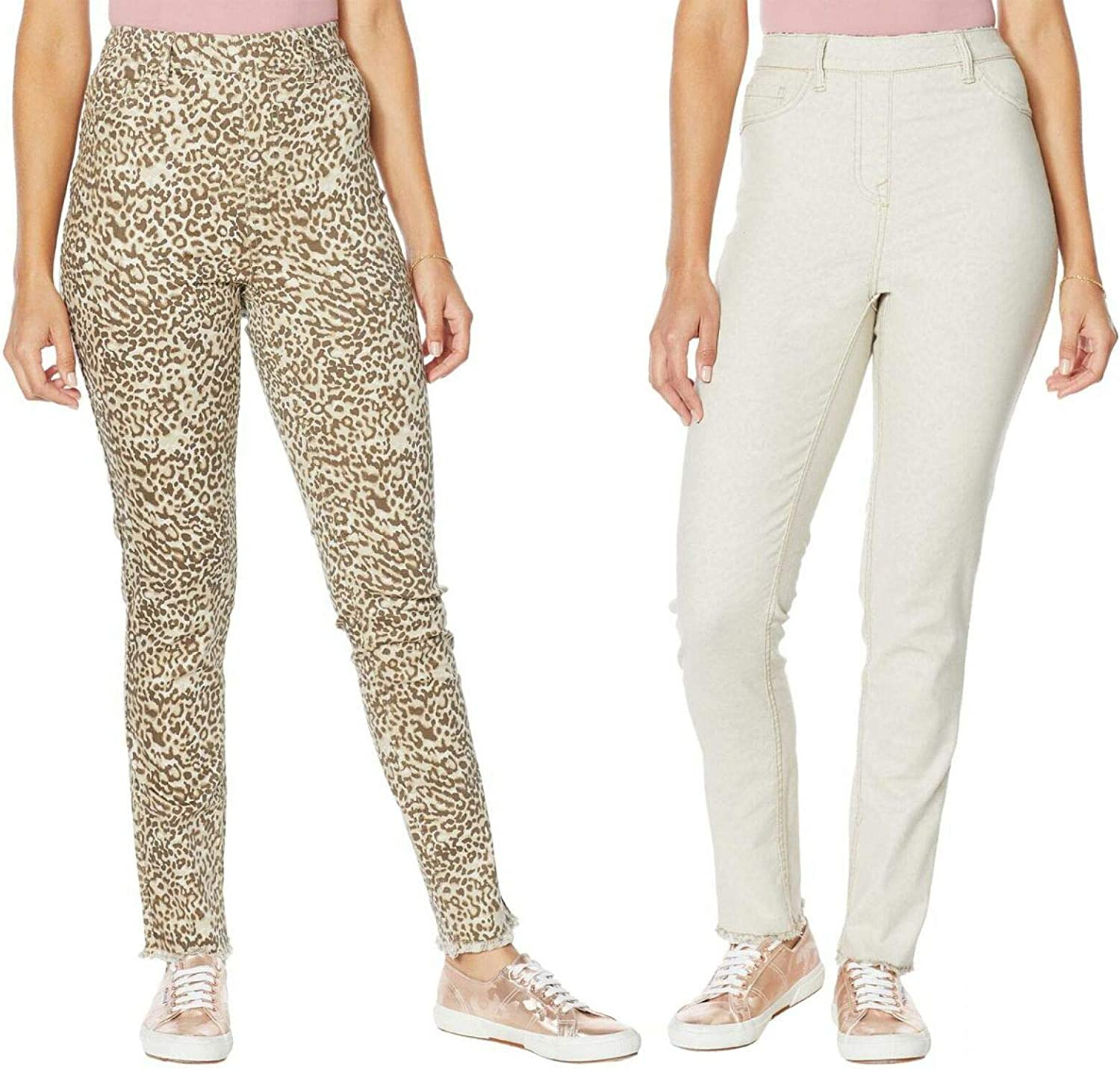 DG2 by Diane Gilman Tall Reversible Twill Pull On Skinny Jeans. 716772-Tall