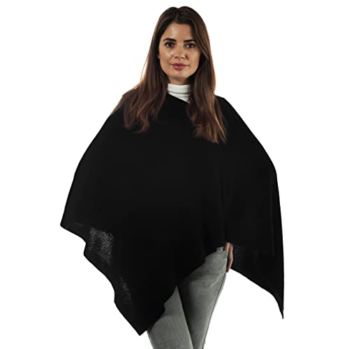 2732af1c91d851 Adorawool Fine Cashmere & Merino Poncho for Women - Ribbed Design - Soft  Lightweight Warm Winter