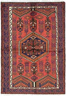 Solo Rugs Hamadan Lucinda One of a Kind Hand Knotted Area Rug, Tuscan, 3' 8