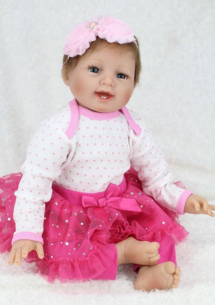 TERABITHIA 22inch 新色追加 Lifelike Soft Headband Baby Reborn 数量限定 Flower Pink