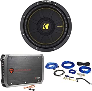 "KICKER 44CWCS124 CompC 12"" 600 Watt SVC Car Audio Subwoofer+Amplifier+Amp Kit photo"