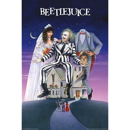 Beetlejuice Kevin M Wilson Screen Print Blacklight 24x36 Mondo #147