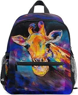 Mini Backpack Daypack Rainbow Doodle Giraffe Rucksack Bag Lightweight for Girls Boys