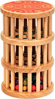 B. toys by Battat – B. A-Maze Rain Rush Dexterity Toy – Classic Baby Rainmaker Toy – Development Natural Wooden Toys for Toddlers