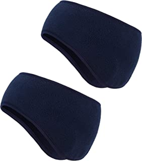 Boao 2 Pieces Ear Warmer Headbands Fleece Winter Headbands for Adult Kids Winter Using