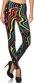 Leggings Mania Women's Regular Plus (XS-3XL) Printed High Waist Ultra Soft Always Leggings - Many Patterns