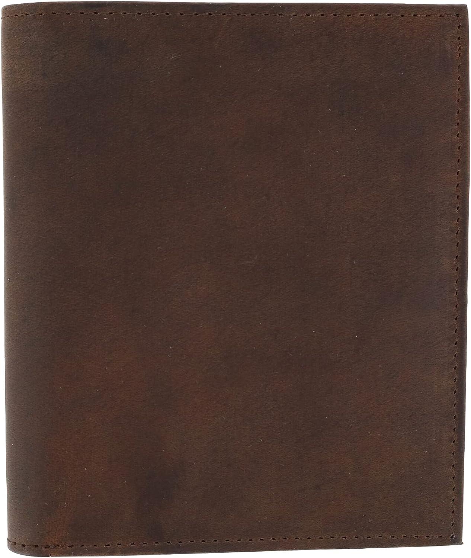CTM Men's Hunter Leather RFID Hipster Bifold Wallet