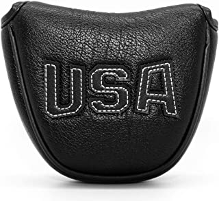 Golf Putter Cover Blade,Mallet Putter Covers Golf Club Head Covers Putter Headcover for Blade Mallet Leather Golf Putter Head Covers with Magnetic for Odyssey 2 ball Scotty Cameron Taylormade Callaway