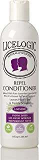 LiceLogic Natural Lice Repel Conditioner To Prevent Super Lice and Nits, 8 oz - Lavender - Lice Prevention Hair Detangler - Safe, Non Toxic Ingredients, Pesticide, Paraben, and Phthalate Free
