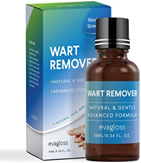 Natural Wart Remover, Maximum Strength, Painlessly Removes Plantar, Common, Genital Warts Infections, Advanced Liquid Gel ...