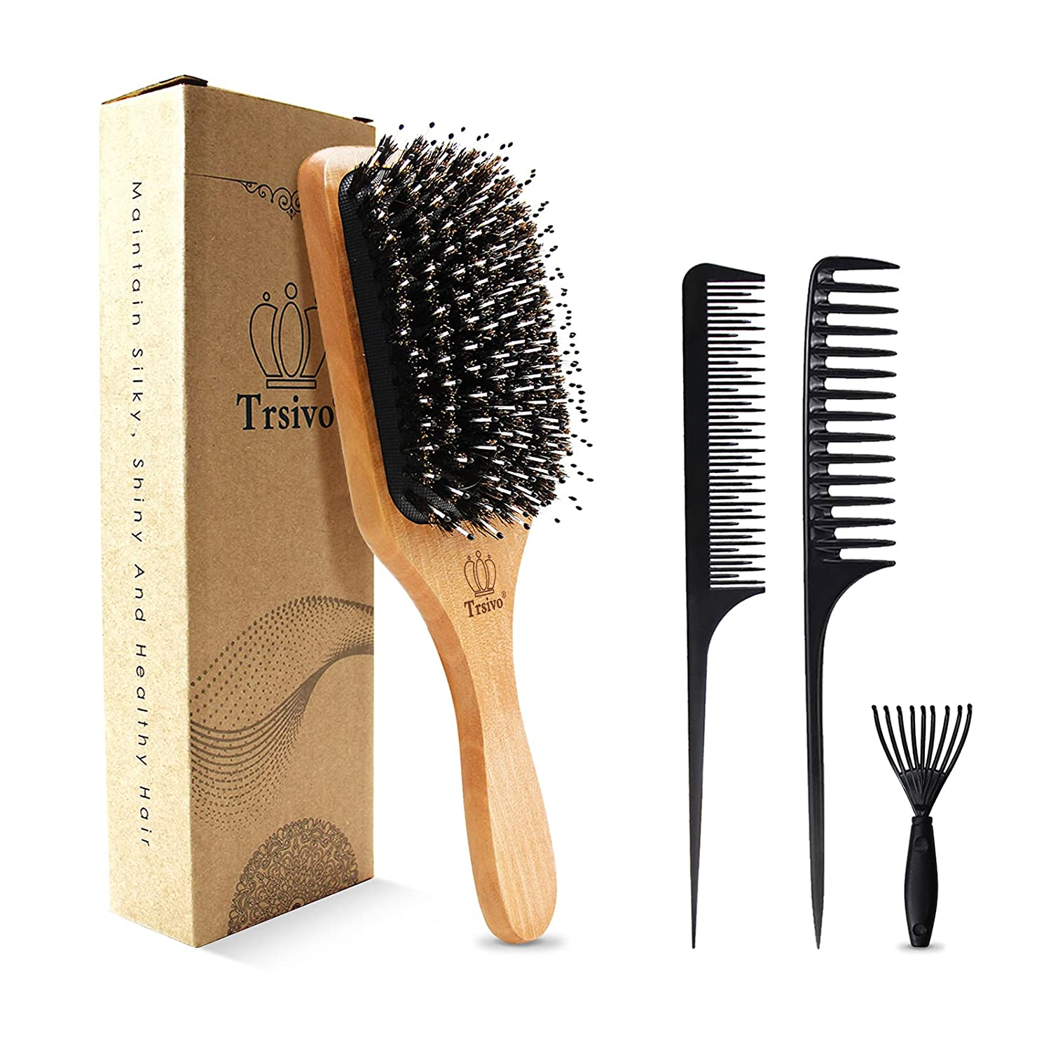 gift Trsivo Hair Brush for favorite Men with Comb Paddle Easy Set Clean Br is