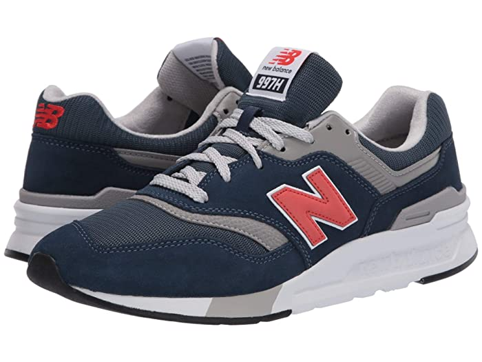 Retro Sneakers, Vintage Tennis Shoes New Balance Classics 997Hv1-USA Natural IndigoNeo Flame Mens Shoes $89.99 AT vintagedancer.com
