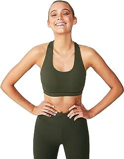 Cotton On Women's Workout Cut Out Crop Sports Bra