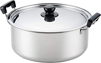 ヨシカワ 日本製 両手鍋 30cm ステンレス 煮もの鍋 満菜 SH9864 シルバー
