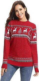 comprar comparacion Aibrou Suéter de Navidad,Jersey Copos de Nieve de Renos de Punto con diseño Navideños para Familia,para Mujer/Hombre/Nina/...